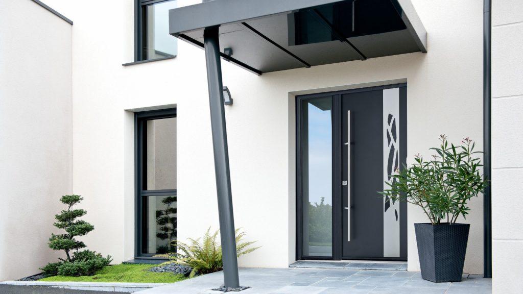 Porte aluminium noir